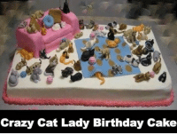 Cake: Crazy Cat Lady Birthday Cake