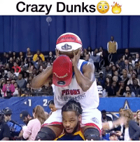 """Crazy, Memes, and 🤖: Crazy Dunks  ENTERIINMENI  2 Comment """"D-U-N-K"""" letter by letter for a follow!😳🔥 - Follow me @thrillingsports for more! via @seriousdunk"""