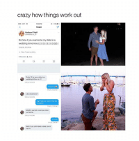 how cute: crazy how things work out  Tweet  Madison O'Neill  So hmu if you wanna be my date to a  wedding tomorow:  7/1015, 531 PM  hView Tweet activity  1 Retweet 2 Likes  Dude Ill be your date to a  weddingt When is it?  nons 10 22 P  Like what time?  Ugh hold on I can't find the  Alright, just let me know when  you do lol  1132 M  it's at 6  s, 214 A  we you stis need a date count  me in! how cute