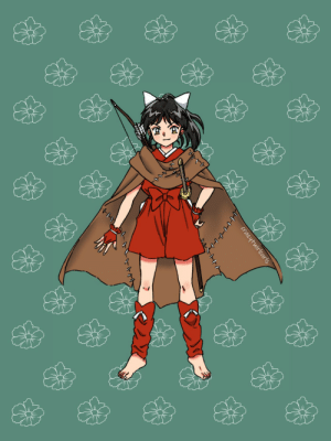 crazytwirlcurls:  I couldn't stop thinking about this Inukag baby so I quickly colored her from the character sheets floating around here. I like to think she has Kagome's hair and Inuyasha's eyes.She looks like she's cosplaying her dad and I think that's adorable 😭: crazytwirlcurls:  I couldn't stop thinking about this Inukag baby so I quickly colored her from the character sheets floating around here. I like to think she has Kagome's hair and Inuyasha's eyes.She looks like she's cosplaying her dad and I think that's adorable 😭