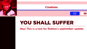 PewDiePie when he sees q sheep: Creations  YOU SHALL SUFFER  Hey! This is a test for Roblox's september update PewDiePie when he sees q sheep