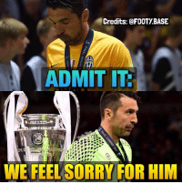 Emoji, Memes, and Sorry: Credits: @FOOTY BASE  ADMIT IT  WE FEEL SORRY FOR HIM Gigi, you deserved it the most 😪❤️ legend Comment your reaction to the game in 1 emoji 👇: 💔 Double Tap & Follow @footy.base for more! 🔥