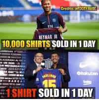 The difference 😂 Who will be better in UCL this year, PSG or Barça? 👇 Double Tap & Follow me @footy.base for more 🔥: Credits:@FOOTYBASE  NEYMAR JR  10,000 SHIRTS SOLD IN 1 DAY  LAUGRANA45  D'ACORD  UNA BANDERA ENS  LAUGRANA AL VENT UN  111 UN NOM-EL SAP  CAI BARÇH BARCA! BARCA!  Rakuten  AULINHO  ek  μ-BARCA!  TOT EL CAMP ÉS  GENT BLAUGRANA  EST  1 SHIRT SOLD IN 1 DAY The difference 😂 Who will be better in UCL this year, PSG or Barça? 👇 Double Tap & Follow me @footy.base for more 🔥