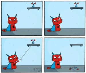 Spider, Tumblr, and Blog: CRIBBL scribblyg:The Amazing Spider-Cat