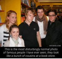 9gag, Crime, and Book: Crime  VIA 9GAG.COM  This is the most disturbingly normal photo  of famous people I have ever seen, they look  like a bunch of cousins at a book store. <h2>Igual no creían que iban a crecer tanto (artísticamente, JohnSnow) como lo han hecho</h2>