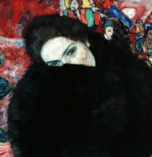 Tumblr, Blog, and Http: crimsonkismet:  Gustav Klimt, Dame mit Muff (1916)