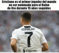 Mundo, Primer, and Marketing: Cristiano es el primer jugador del mundo  en ser nominado para el Balon  de Uro durante 15 anos seguidoS  AONALD  Cygames Todo marketing 🙄🙄 cabroworld