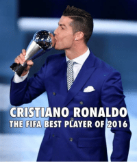 What a year it has been for Ronaldo 💯👌🏻 Double Tap for him ❤️ Fav Dont comment any hatred i love messi as well & many more 👌🏻 Everybody is great in their own way 💯😎: CRISTIANO RONALDO  THE FIFA BEST PLAYER OF 2016 What a year it has been for Ronaldo 💯👌🏻 Double Tap for him ❤️ Fav Dont comment any hatred i love messi as well & many more 👌🏻 Everybody is great in their own way 💯😎