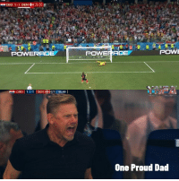 Seeing Peter Schmeichel watch his son, Kasper, saving a penalty against Luka Modric was a truly great World Cup moment: CRO 1-1 DEN+-26:00 ET  POWERADE  POWERADE  POWE  One Proud Dad Seeing Peter Schmeichel watch his son, Kasper, saving a penalty against Luka Modric was a truly great World Cup moment