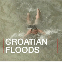 Memes, Croatia, and Rain: CROATIAN  FLOODS Anyone for swimming in the rain? Two hours of intensive rain hit the southern part of Croatia causing massive flooding in Dubrovnik. This tourist, however, still managed to enjoy himself. croatia flood water tourist