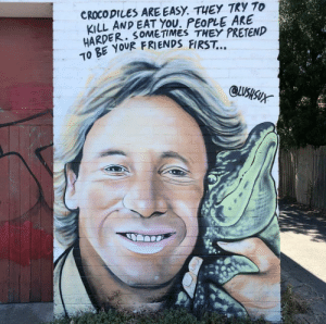 Friends, Steve Irwin, and Peta: CROCO DILES ARE EASY. THEY TRY To  KILL AND EAT YOU. PEOPLE AKE  HARDER. SOMETiMES THEY PRETEND  OBE yUR FRIENDS FIRST..  To PETA messed up. RIP steve Irwin (@lushsux)