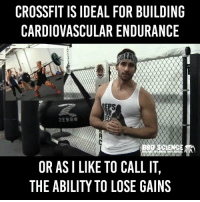 Shots Fired 😂 https://t.co/dckiljmYHZ: CROSSFIT IS IDEAL FOR BUILDING  CARDIOVASCULAR ENDURANCE  REPS  BRO SCIENCE  OR AS I LIKE TO CALL IT,  THE ABILITY TO LOSE GAINS Shots Fired 😂 https://t.co/dckiljmYHZ