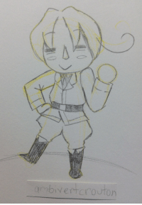Sorry, Target, and Tbh: croutons-art:  Felt like drawing him in a animal crossing style. I'm sorry if there's anyone who hates hetalia looking at this but tbh this is nothing to be mad about
