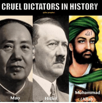 Momo wins because it was not his but Allah's fault  (The Prophet): CRUEL DICTATORS IN HISTORV  @the-prophet  Muhammad  Hitler  Mao  (Allah) Momo wins because it was not his but Allah's fault  (The Prophet)
