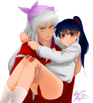rubbesart: my cliche lovin ass would've killed for a scene with gym outfit!kagome and bandana!inuyasha also it's transparent because i hate backgrounds with a passion : Cruobesort  250816 rubbesart: my cliche lovin ass would've killed for a scene with gym outfit!kagome and bandana!inuyasha also it's transparent because i hate backgrounds with a passion