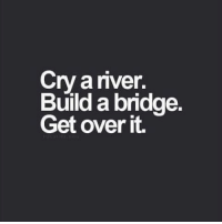successful motivated motivation motivational quote quotes quoteoftheday quotestagram tmos noexcuses work workhard motivationalquotes l4l: Cry a river.  Build a bridge.  Get over it. successful motivated motivation motivational quote quotes quoteoftheday quotestagram tmos noexcuses work workhard motivationalquotes l4l