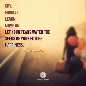 http://wakeup-world.com: CRY.  FORGIVE  LEARN.  MOVE ON.  LET YOUR TEARS WATER THE  SEEDS OF YOUR FUTURE  HAPPINESS.  Sieve Maraboli  wake up world  STS TIME TO ise ano sHINE http://wakeup-world.com