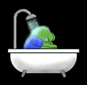 Crying, Pepe the Frog, and Shower: Crying in the shower pepe [OC]