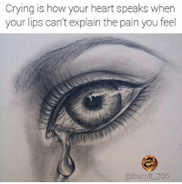 Crying, Facts, and Fye: Crying is how your heart speaks when  your lips can't explain the pain you feel  @bscott 206 Rp♻@bscott_206 👣 For Good Quality Fye Memes To Post On Your Page, Go Check Out👉🔥@fyeassmemes🔥 FOLLOW THE CREW 🔥@king_smiles_ 🔥@leggygirl1 🔥@bscott_206 fyeassmemes king_smiles_ leggygirl1 bscott_206 love followback realtalk facts goals lovequotes relationshipgoals photooftheday truestory sexuall inlove powercouples quotes relationships picoftheday webstagram quotesofthegram tagafriend positivevibes truelove bestoftheday worth babe honesty truthbetold lit