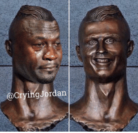 Cristiano Ronaldo's bust didn't turn out as planned...  Credit - Brent Henderson: @Crying Jordan Cristiano Ronaldo's bust didn't turn out as planned...  Credit - Brent Henderson