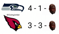 Cardinals, Game, and Record: @CryingJordan  3-3 Let's take a peek at the Seahawks and Cardinals record after last nights game... https://t.co/9unHjdEAdu