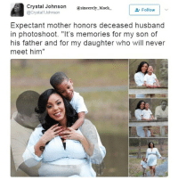 """So touching @__royal__family__ sincerelyblack myblackness melanin melaninonfleek melaninpoppin blackbeauty blackisbeautiful panafrican panafricanism blackpride blackpower black blackgirl blackman blackfamily blackbaby blacklivesmatter blackfamily blacklove: Crystal Johnson  sincerely black.  Follow  @Crystal Johnson  Expectant mother honors deceased husband  in photoshoot. """"It's memories for my son of  his father and for my daughter who will never  meet him"""" So touching @__royal__family__ sincerelyblack myblackness melanin melaninonfleek melaninpoppin blackbeauty blackisbeautiful panafrican panafricanism blackpride blackpower black blackgirl blackman blackfamily blackbaby blacklivesmatter blackfamily blacklove"""