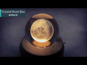Click, Music, and Tumblr: Crystal Music Box  APOLO mega-happycollectordeer-posts:  Mesmerizing! With a flick of the switch, this rotating music box catches the eye with its luminous crystal moon, starry night or bubbling sea while it fills the room with a lovely version of Pachelbel's famous Canon.Rotating crystal ball music box creates a unique light pattern on the ceiling as it plays a lovely melodyInset light illuminates crystal ball for 8 to 12 hoursChoose a moon, star or bubbling sea crystal ball design on a maple wood base Click Here to get yours ( • ̀ω•́ )✧ 20% off coupon code:June20