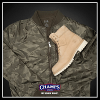 """Memes, Timberland, and 🤖: CSG  AER  CHAMPS  SPORTS  WE KNOW GAME. Stay fly with Timberland & CSG. Croissant 🥐 6"""" Boot hits stores this week!"""