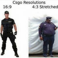 Csgo Resolutions 169 43 Stretched SWAT I Played Badly