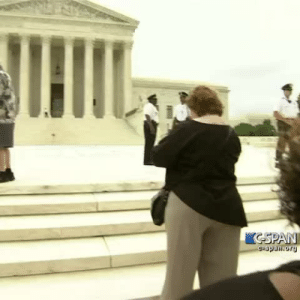 "claidilady:  claidilady:  ""Running of the interns outside the Supreme Court 6/26/2015″  RUN INTERNS, BRING THE GOOD NEWS TO THE PEOPLE, hol y shit i did nto fucking realize. this happens.,vine.LET ME FURTHER ELABORATE ON THE HILARITY OF THE BEST AMERICAN POLITICAL PRACTICE TO EXIST, ""THE ANNUAL RUNNING OF THE INTERNS"": RECORDINGS ARE NOT ALLOWED INSIDE THE U.S. SUPREME COURT. SO WHEN A DECISION IS MADE, COPIES ARE HANDED TO MEMBERS OF THE PRESS INSIDE THE BUILDING IN A PRESS ROOM WHO THEN LEAVE THEIR ROOM TO HAND THE COPIES OF THE RULING TO THEIR INTERNS (WHO AREN'T ALLOWED INSIDE THE PRESS ROOM) (PICTURED: INTERNS FROM 2013, WAITING FOR THEIR RUN)AND THEN THE INTERNS HAVE TO DELIVER THE COURT RULINGS WHILE THE JUSTICES ARE ANNOUNCING THEIR DECISION INSIDE THE COURTROOM ITSELF. SO THE INTERNS RUN THROUGH THE SUPREME COURT BUILDING FROM OUTSIDE THE PRESS ROOM TO OUTSIDE, ACROSS THE PAVED WALKWAYS, AND DOWN THE STAIRS OF THE COURTHOUSE AREA INTO THE BROADCASTING PRESS PEN IN THE STREET.(A PREVIOUS YEAR'S INTERN RUN WINNER)INTERNS ARE TOLD THEY MAY TO THROW SOME ELBOWS IF NECESSARY. AND ALL ARE RACING TO BE THE FIRST TO DELIVER THE COURT RULINGS TO THEIR RESPECTIVE BROADCASTERS WHO ARE WAITING TO GO ON AIRPICTURED IN FRONT IS YESTERDAY'S INTERN WINNER LAUREN WHO SAID SHE ""JUST LIKED TO WIN"" WHEN SHE PULLED CLEAR AHEAD TO DELIVER THE OBAMACARE RELATED DECISION. KEEP IN MIND THE DECISIONS READ ON THE BENCH ARE POSTED ONLINE A FEW MINUTES LATER SO THIS WHOLE PROCESS CURRENTLY EXISTS BECAUSE NO ONE WANTS TO WAIT THAT LONG. TRULY A GREAT AND HILARIOUS AMERICAN TRADITION. : CSPAN  C-span.ory claidilady:  claidilady:  ""Running of the interns outside the Supreme Court 6/26/2015″  RUN INTERNS, BRING THE GOOD NEWS TO THE PEOPLE, hol y shit i did nto fucking realize. this happens.,vine.LET ME FURTHER ELABORATE ON THE HILARITY OF THE BEST AMERICAN POLITICAL PRACTICE TO EXIST, ""THE ANNUAL RUNNING OF THE INTERNS"": RECORDINGS ARE NOT ALLOWED INSIDE THE U.S. SUPREME COURT. SO WHEN A DECISION IS MADE, COPIES ARE HANDED TO MEMBERS OF THE PRESS INSIDE THE BUILDING IN A PRESS ROOM WHO THEN LEAVE THEIR ROOM TO HAND THE COPIES OF THE RULING TO THEIR INTERNS (WHO AREN'T ALLOWED INSIDE THE PRESS ROOM) (PICTURED: INTERNS FROM 2013, WAITING FOR THEIR RUN)AND THEN THE INTERNS HAVE TO DELIVER THE COURT RULINGS WHILE THE JUSTICES ARE ANNOUNCING THEIR DECISION INSIDE THE COURTROOM ITSELF. SO THE INTERNS RUN THROUGH THE SUPREME COURT BUILDING FROM OUTSIDE THE PRESS ROOM TO OUTSIDE, ACROSS THE PAVED WALKWAYS, AND DOWN THE STAIRS OF THE COURTHOUSE AREA INTO THE BROADCASTING PRESS PEN IN THE STREET.(A PREVIOUS YEAR'S INTERN RUN WINNER)INTERNS ARE TOLD THEY MAY TO THROW SOME ELBOWS IF NECESSARY. AND ALL ARE RACING TO BE THE FIRST TO DELIVER THE COURT RULINGS TO THEIR RESPECTIVE BROADCASTERS WHO ARE WAITING TO GO ON AIRPICTURED IN FRONT IS YESTERDAY'S INTERN WINNER LAUREN WHO SAID SHE ""JUST LIKED TO WIN"" WHEN SHE PULLED CLEAR AHEAD TO DELIVER THE OBAMACARE RELATED DECISION. KEEP IN MIND THE DECISIONS READ ON THE BENCH ARE POSTED ONLINE A FEW MINUTES LATER SO THIS WHOLE PROCESS CURRENTLY EXISTS BECAUSE NO ONE WANTS TO WAIT THAT LONG. TRULY A GREAT AND HILARIOUS AMERICAN TRADITION."