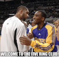 Congrats to Tim Duncan and the rest of the San Antonio Spurs on becoming the 2014 NBA CHAMPIONS!  Like Us NBA LOLz!: CTNBAMEMES  WELCOME TOTHE FIVE RINGCLUB! Congrats to Tim Duncan and the rest of the San Antonio Spurs on becoming the 2014 NBA CHAMPIONS!  Like Us NBA LOLz!