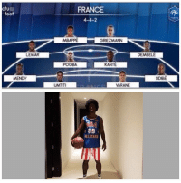 Griezmann trying to fit into the France team!?! What was he thinking? 😂✋🏽🤔 Griezmann Costume: ctup  foot  FRANCE  4-4-2  MBAPPE  GRIEZMANN  LEMAR  DEMBELE  POGBA  KANTE  SIDIBE  UMTITI  VARANE  69  ALLSTAR  T1 Griezmann trying to fit into the France team!?! What was he thinking? 😂✋🏽🤔 Griezmann Costume