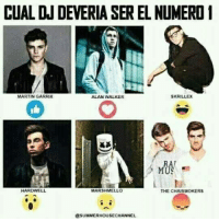 🤔: CUAL DJ DEVERIA SER EL NUMERO I  MARTIN GARRIX  ALAN WALKER  SKRILLEX  RA  MUS  HARDWELL  MARSHMELLO  THE CHAISMOKERS  SUMMERHOUSECHANNEL 🤔