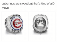 SAVAGE LEVEL = 💯: Cubs rings are sweet but that's kind of a D  move  NDIAN  1 LEA  AMPIO SAVAGE LEVEL = 💯