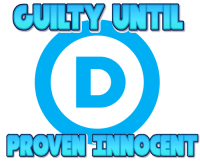 Party, Democratic Party, and Mantra: CUIETY  UNTL  PROVEN ENNOCENT