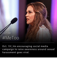 Lady Gaga, Memes, and Monica Lewinsky: CULTURE  #MeToo  Oct. 19 | An encouraging social media  campaign to raise awareness around sexual  harassment goes viral The Metoo movement, which has taken social media by storm over the past few days, brings people to share their experiences to raise awareness about the scope and magnitude of sexual harassment. __ The movement was started over 10 years ago by activist Tarana Burke, however, it regained popularity over the weekend by actor Alyssa Milano. Since then, its been reported that Metoo hashtag had been used 880,000 times by Tuesday afternoon. Several celebrities such as Angelina Jolie, Gwyneth Paltrow, Monica Lewinsky and Lady Gaga have come forward to support the movement in light of the recent Harvey Weinstein scandal.
