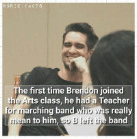 Lol, Memes, and Teacher: CURIE FACT S  The first time Brendon joined  the Arts class, he had a Teacher  for marching band  wha s really  ean to him  So Bleft the band Well i know something about mean teachers lol🌌🌙💕
