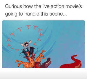 Dank, Disney, and Memes: Curious how the live action movie's  going to handle this scene..  -下  ˊ  べ Checkmate, Disney by milkshakesocks8823 MORE MEMES