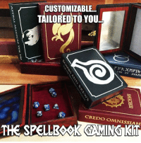 The Folks at D20 Collective have always committed themselves to delivering some of the coolest unique products to the Tabletop Gaming Masses. With that said, they are STOKED to announce the arrival of the Spellbook Gaming Kits from Elderwood Academy!  Customize Yours Here ==> https://goo.gl/26YdPG  These are things of pure beauty...and the best part?   YOU CAN CUSTOMIZE THEM TO YOUR TASTES!  Customize Yours Here ==> https://goo.gl/26YdPG  Share and Tag everyone who needs one of these!: CUSTOMIZABLE  TAILORED TO YOU  CREDO OMANISSIAH  THE SPELLESSKAMING KIT The Folks at D20 Collective have always committed themselves to delivering some of the coolest unique products to the Tabletop Gaming Masses. With that said, they are STOKED to announce the arrival of the Spellbook Gaming Kits from Elderwood Academy!  Customize Yours Here ==> https://goo.gl/26YdPG  These are things of pure beauty...and the best part?   YOU CAN CUSTOMIZE THEM TO YOUR TASTES!  Customize Yours Here ==> https://goo.gl/26YdPG  Share and Tag everyone who needs one of these!