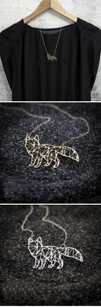 Beautiful, Cute, and Family: cute-aesthetics-things:  Beautiful and Unique Fox Origami Necklace that matches any of your outfits! A lovely gift for your friends and family!= GET YOURS HERE =