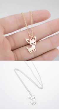 Chihuahua, Cute, and Family: cute-aesthetics-things:  Cute and adorableChihuahua Pet Necklace. A lovely Gift for your friends and family!= GET YOURS HERE =