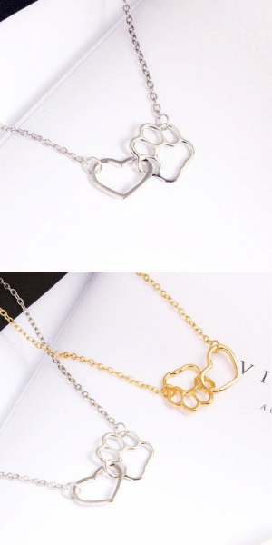 Beautiful, Cute, and Tumblr: cute-aesthetics-things: Lovely and Unique Heart x Paw Necklace. If you are a puppy lover or know someone who is this will make a lovely and beautiful Gift! = GET YOURS HERE =