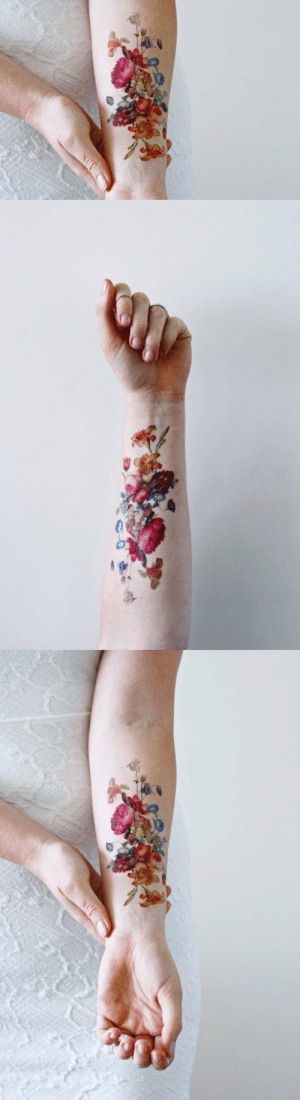 Cute, Tattoos, and Tumblr: cute-thangsss:Vinetage floral temporary tattoos.