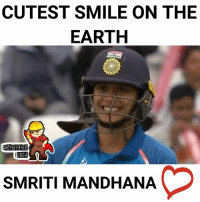 Memes, Earth, and Smile: CUTEST SMILE ON THE  EARTH  ENGINEERING  UNDA  SMRITI MANDHANA