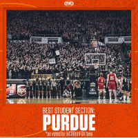 BOILER. UP. https://t.co/rSXBPZcXG9: CUVES 09  HERF  15  02  PIONEER  BEST STUDENT SECTION:  PURDUE  as voted by aCBBonFOX fans BOILER. UP. https://t.co/rSXBPZcXG9