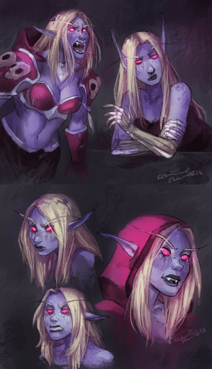 "Tumblr, Blog, and Her: Cw calonarang:  ""I hate Sylvanas"" I say.  *proceeds to draw her 500 times*"