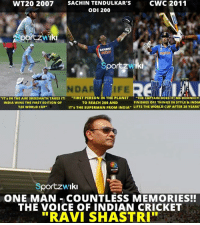 "Remember that awesome commentary by Ravi Shastri? <3: CWC 2011  SACHIN TENDULKAR's  ODI 200  Sportzwiki  SAHARA  Iki  Spo  NDAR  ""IT's IN THE AIR! SREESANTH TAKES IT!  FIRST PERSON IN THE PLANET  THE CAPTAIN DOES IT: MS DHONIII  FINISHES OFF THINGS IN STYLE & INDIA  TO REACH 200 AND  INDIA WINS THE FIRST EDITION OF  IT's THE SUPERMAN FROM INDIA  LIFTS THE WORLD CUP AFTER 28 YEARS  T20 WORLD CUP  Sportzw Iki  ONE MAN COUNTLESS MEMORIES!!  THE VOICE OF INDIAN CRICKET  RAVI SHASTRI"" Remember that awesome commentary by Ravi Shastri? <3"