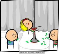 By Kris. Tag your favorite stripper buddy!⠀ ⠀ Don't know any strippers? That's a shame. Maybe you'll meet some over at www.explosm.net!: Cyanide and Happiness O Explosm.net By Kris. Tag your favorite stripper buddy!⠀ ⠀ Don't know any strippers? That's a shame. Maybe you'll meet some over at www.explosm.net!