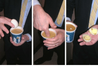 Food, Fucking, and God: cybercitrus:  pixelavender:  adriofthedead:  vicemag:  A quick tip for your elevator ride up to the office: grab a piping hot cuppa joe at the corner store and stick an egg in it to make a hard boiled morning snack.  just stick your hands in boiling hot coffee. go on. do it. just shove your fingers on in that blistering hot cuppa joe. throw an egg in there. who gives a shit. eat your god damn coffee eggs like the stupid slobbering idiot that you are  thIS WHOLE FUCKING ARTICLE      ????????????????????????????  convert your office into a horrible disaster