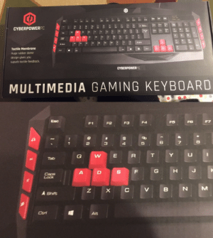 """Shit, Target, and Tumblr: CYBERPOWERPC  6  9  A Shift  N M K  A Shit  Tactile Membrane  Huge rubber dome  design gives you  supurb tactile feedback.  CYBERPOWERPC  MULTIMEDIA GAMING KEYBOARD   F1  F2  F3  F4  5  6  A Shift  Alt benjaminbreeg:  bace-jeleren:  whowasphoone:  banshees:  banshees:  the Gaming keys……….do t even think about looking at this post if ur not a gamer  i just fuckinf noticed they switched the d and the s's places what the…fuck?  its because the d stands for down and the s stands for sideways…. this is clearly how it was meant to be all along  W for """"wupwards""""  a is for """"am going left"""""""